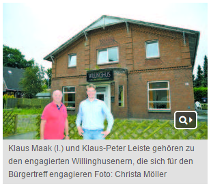 Hamburger Wochenblatt - Bericht über den Verein Gemeinsam für Willinghusen